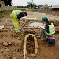 Medieval cist excavation